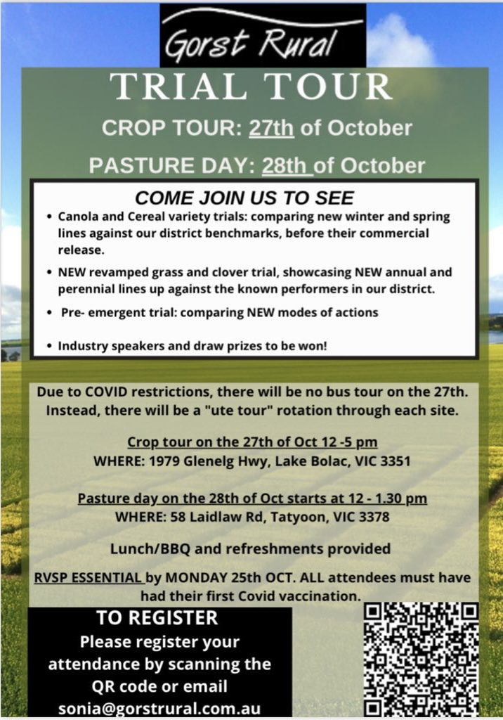 Gorst Rural Trial Tour